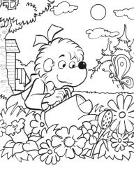 plansa de colorat berenstain bears #12