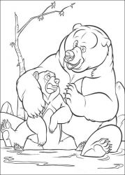 plansa de colorat brother bear #5