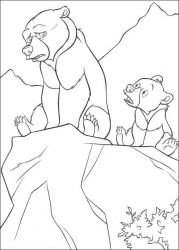 plansa de colorat brother bear #9