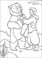 plansa de colorat brother bear #11