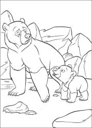 plansa de colorat brother bear #13