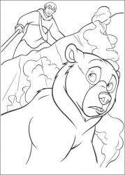 plansa de colorat brother bear #14