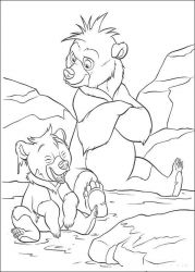 plansa de colorat brother bear #18