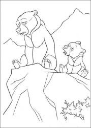 plansa de colorat brother bear #24
