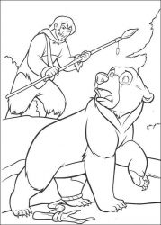 plansa de colorat brother bear #37