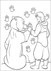 plansa de colorat brother bear #38