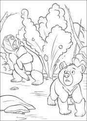 plansa de colorat brother bear #39
