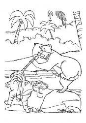 Planse De Colorat Cu Cartea Junglei Desene De Colorat Cu