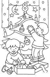 Planse De Colorat Cu Craciun Copii Desene De Colorat Cu