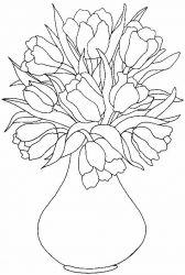 Planse De Colorat Cu Flori Lalele Desene De Colorat Cu Flori