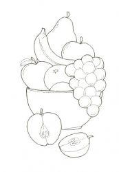 Planse De Colorat Cu Fructe Si Legume Desene De Colorat Cu