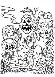plansa de colorat hallowen #23
