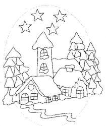 Planse De Colorat Cu Iarna Desene De Colorat Cu Iarna