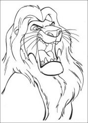 plansa de colorat lion king #12