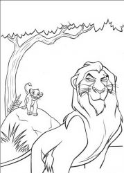 plansa de colorat lion king #18