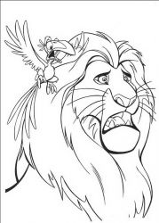 plansa de colorat lion king #23