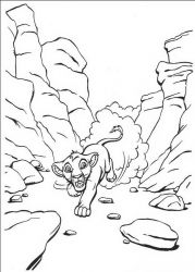 plansa de colorat lion king #30