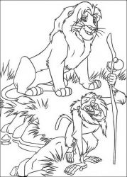 plansa de colorat lion king #33