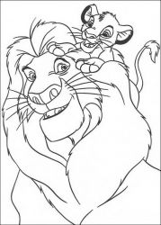 plansa de colorat lion king #40