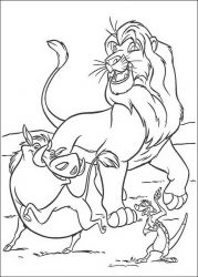 plansa de colorat lion king #47