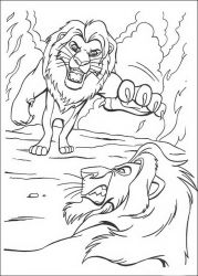 plansa de colorat lion king #72