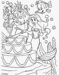 Planse De Colorat Cu Mica Sirena Desene De Colorat Cu Mica