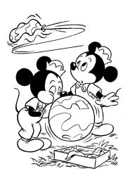 plansa de colorat mickey mouse #1