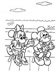 plansa de colorat mickey mouse #6