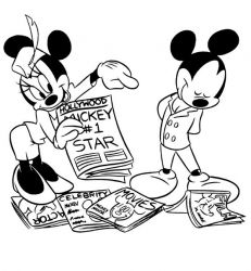 plansa de colorat mickey mouse #14
