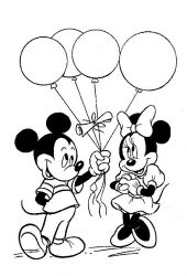 plansa de colorat mickey mouse #34