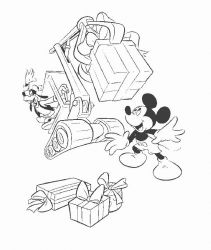 plansa de colorat mickey mouse #37