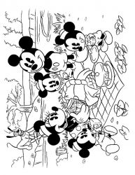 plansa de colorat mickey mouse #38