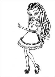 plansa de colorat monster high #5