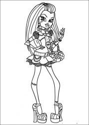 plansa de colorat monster high #7