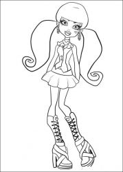 plansa de colorat monster high #10