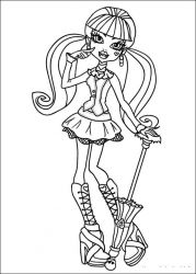plansa de colorat monster high #11