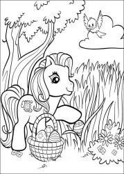 plansa de colorat my little poney #22