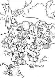 plansa de colorat my little poney #28