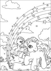 plansa de colorat my little poney #52