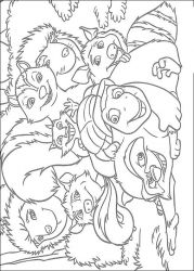plansa de colorat over the hedge #1