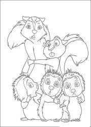 plansa de colorat over the hedge #3