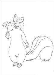 plansa de colorat over the hedge #8