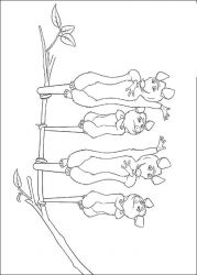 plansa de colorat over the hedge #9