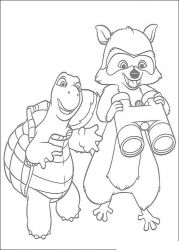 plansa de colorat over the hedge #11