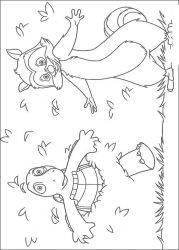 plansa de colorat over the hedge #14