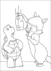 plansa de colorat over the hedge #15