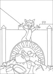 plansa de colorat over the hedge #16