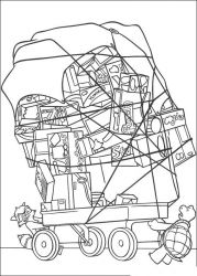 plansa de colorat over the hedge #19