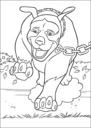plansa de colorat over the hedge #20
