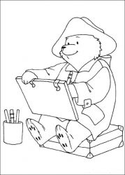 plansa de colorat paddington bear #5